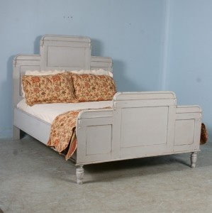 antique swedish queen bed painted headboard footboard with railings ebay