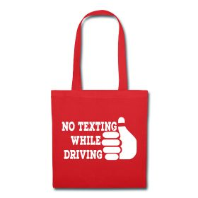 Don't #text and #drive! Join the #fight against #texting while #driving! It's the #redthumb campaign. You can find this #design as a #PhoneCover, ##tote, #shirt, #apron, and #baby #romper. #StandUp #People #Life