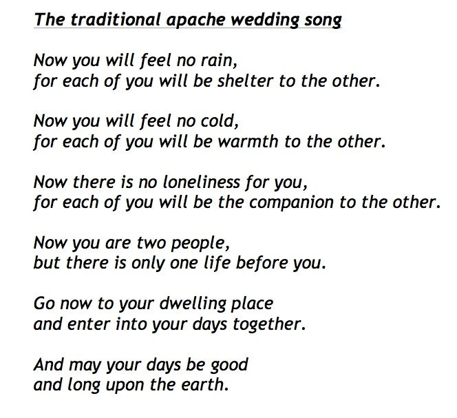 A Lovely Non Religious Blessing Which Goes Perfectly Near To The End Of Ceremony