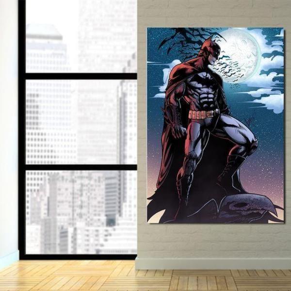 Batman Rise 3D Printed Batman Framed Canvas