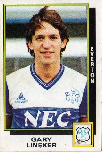 Gary lineker everton sticker