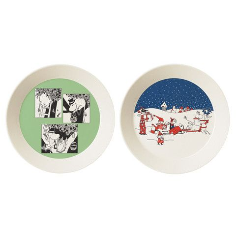 Collector's edition plate 2-pack 2015: Green & Christmas Greeting