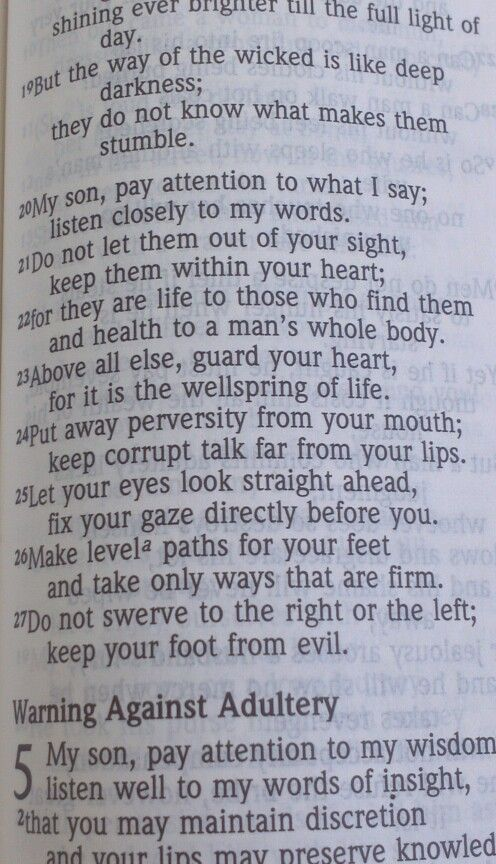 Proverbs ch.4 vrs.20-27
