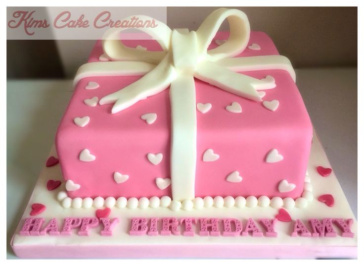 Beautiful gifted present cake