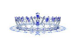 Silver Swirl Crown - Sapphire