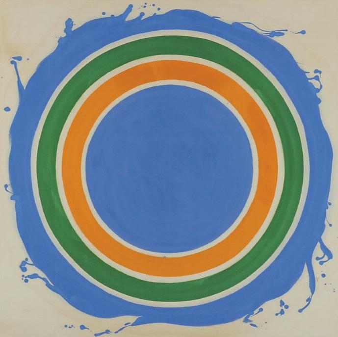 Noland, Kenneth-Off, acrylic on canvas, 215,9x215,9cm, 1965