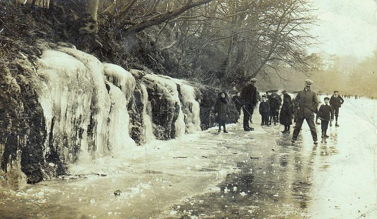 Frozen River Ayr from --1916