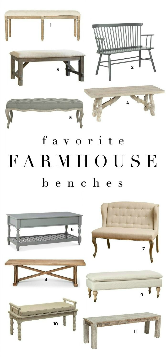 17 Best ideas about Farmhouse Bench on Pinterest