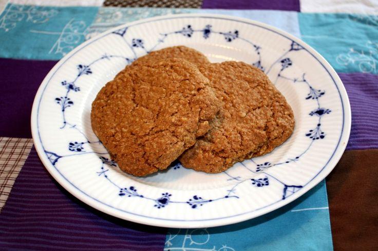 Store cookies med havregryn