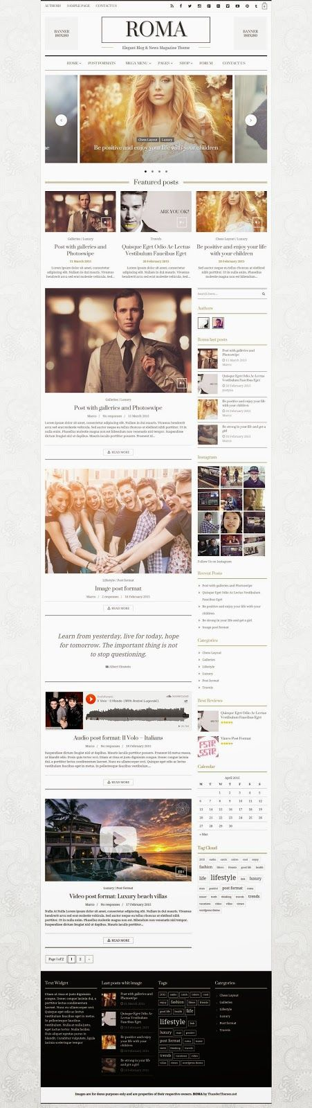 This is great!!! ROMA - Elegant Blog & News Magazine Theme