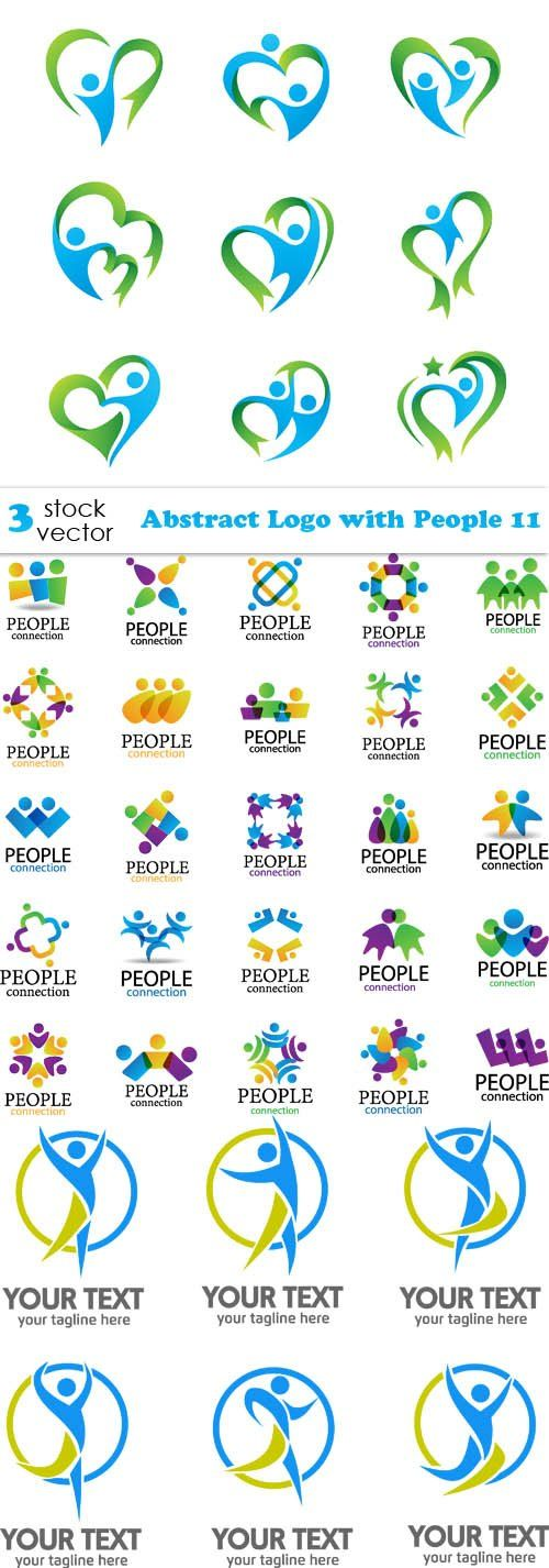 Vectors - Abstract Logo with People 11