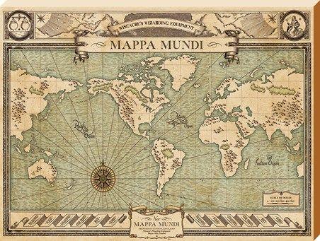 fantastic beasts printables | Mappa Mundi, Fantastic Beasts Large Canvas - Buy Online