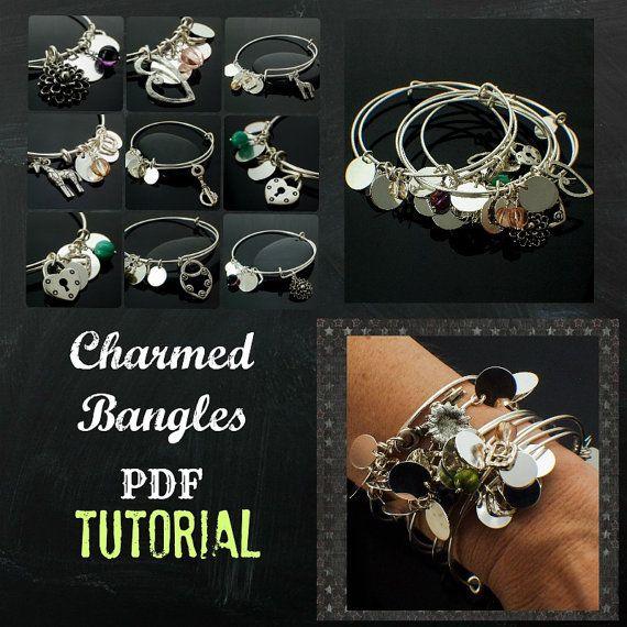 Charmed Bangle pdf - DIY Jewelry Instructions - SALE