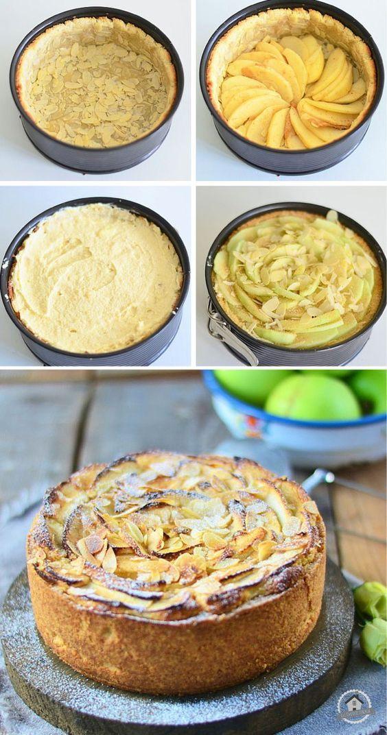 Apfel Mazarin Kuchen - Apple Mazarin Cake