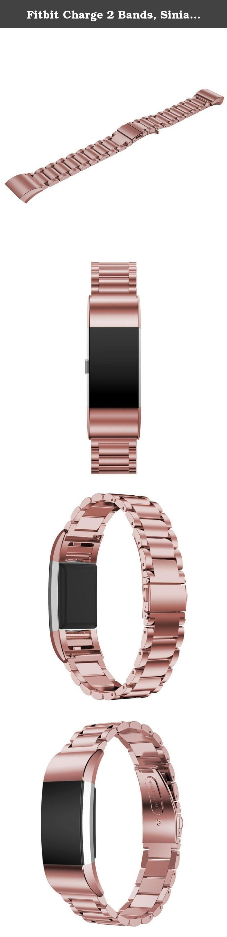 Fitbit Charge 2 Bands, Siniao Genuine Stainless Steel Bracelet Smart Watch Band Strap For Fitbit Charge 2 (Pink). ☛: Package Include: ☛: 1pc Genuine Stainless Steel Bracelet Smart Watch Band Strap For Fitbit Charge 2 (without retail package).