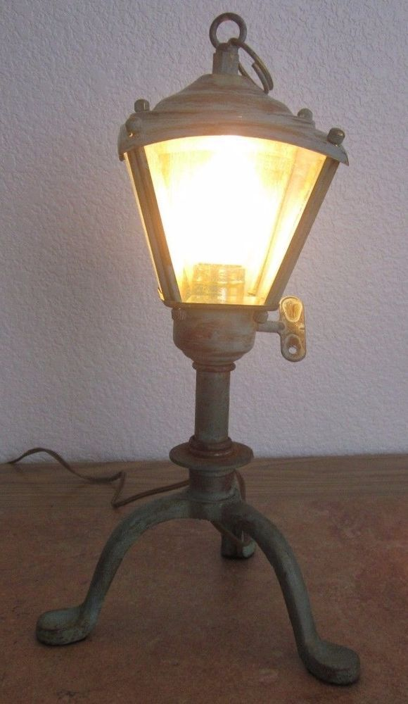 Lantern style Night Light,Table or Desk Lamp with Metal Base