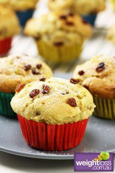 Healthy Muffins Recipes: Banana & Sultana Muffins. #HealthyRecipes #DietRecipes #WeightlossRecipes weightloss.com.au