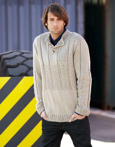Book Special Merino 100% 3 Autumn / Winter | 6: Man Sweater | Beige