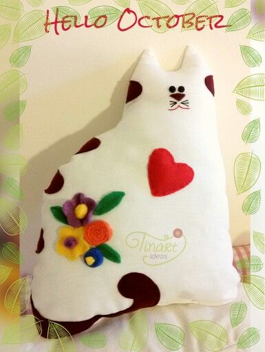 Cat decorative pillow.