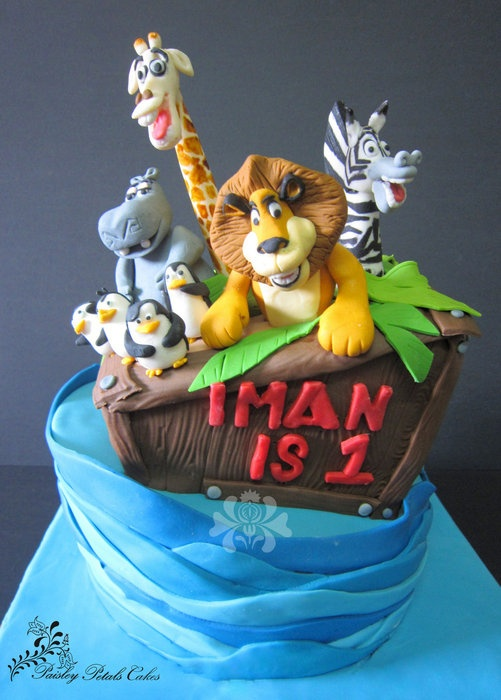 Madagascar Topsy-Turvy Cake