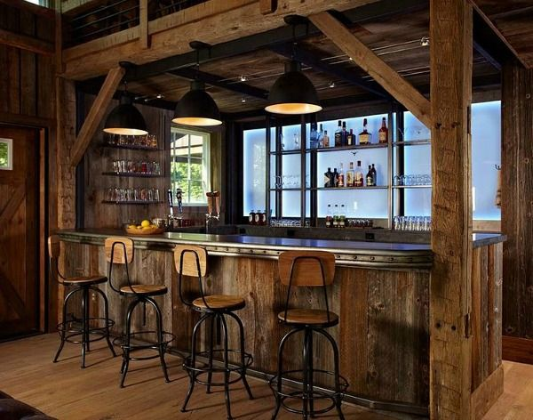 17 Best Ideas About Rustic Bars On Pinterest