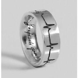Asring, zilver met hartslag - Ringen - Assieraden - Assieraden - Na de uitvaart - Uitvaartwinkel.nl
