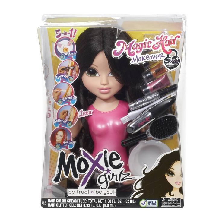 Makeup and Hair Styling Doll Head  Moxie Girlz Magic Hair