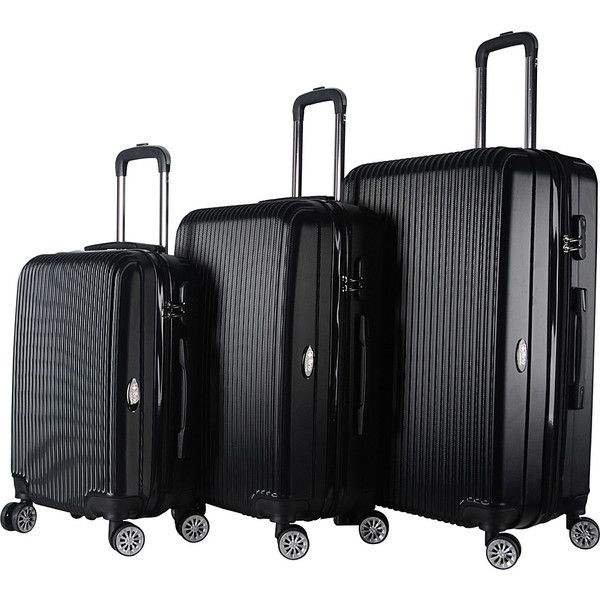 Brio Luggage Hardside Spinner Luggage Set - Black - Luggage Sets