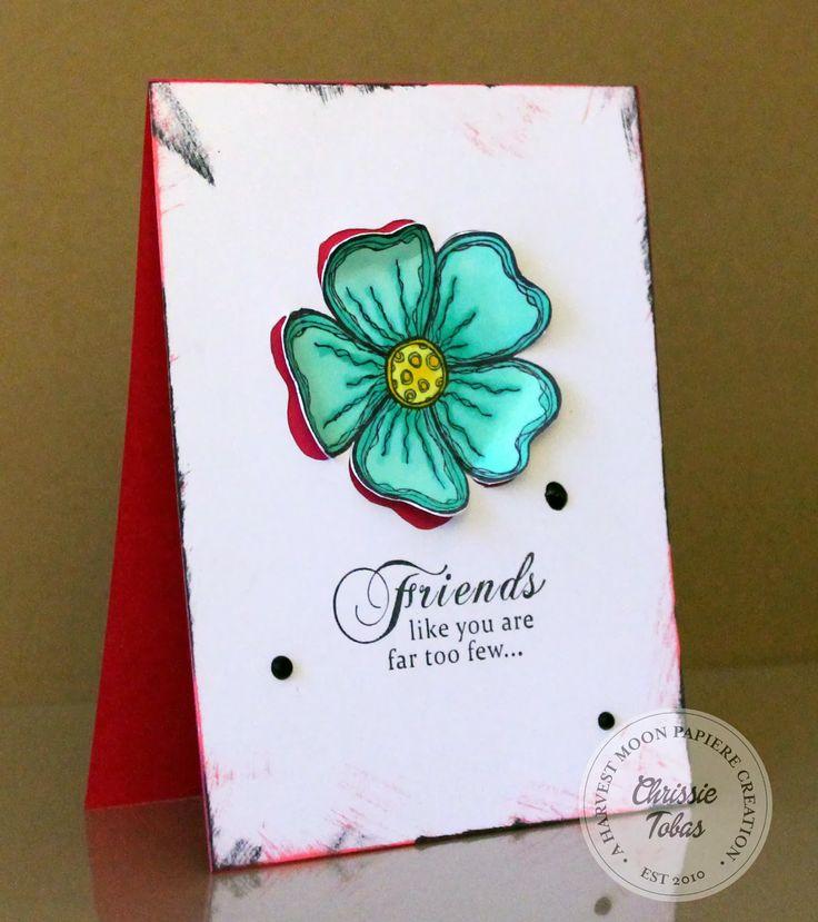 Chrissie Tobas (Harvest Moon Papiere) for Crafter's Companion - : Flower Pop Out, Sheena's A Little Bit Sketchy: Flower Power, Everyday Sentimentals: Imagine, Memento Tuxedo Black, @SpectrumNoir  Markers (CT1, CT3, CT4, BT2, BT3, BT4)