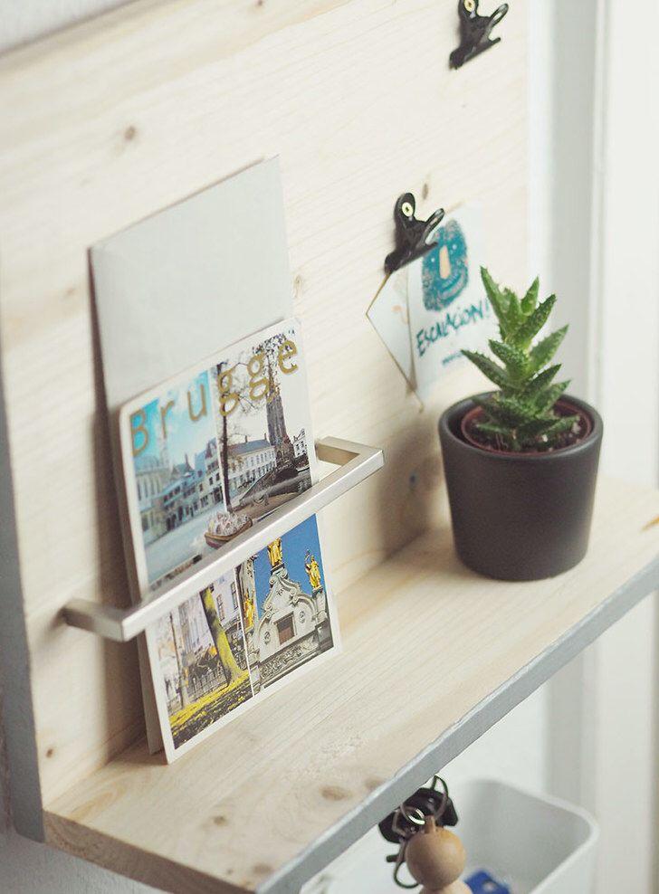 diy anleitung minimalistisches schl sselbrett selber bauen via deko pinterest. Black Bedroom Furniture Sets. Home Design Ideas