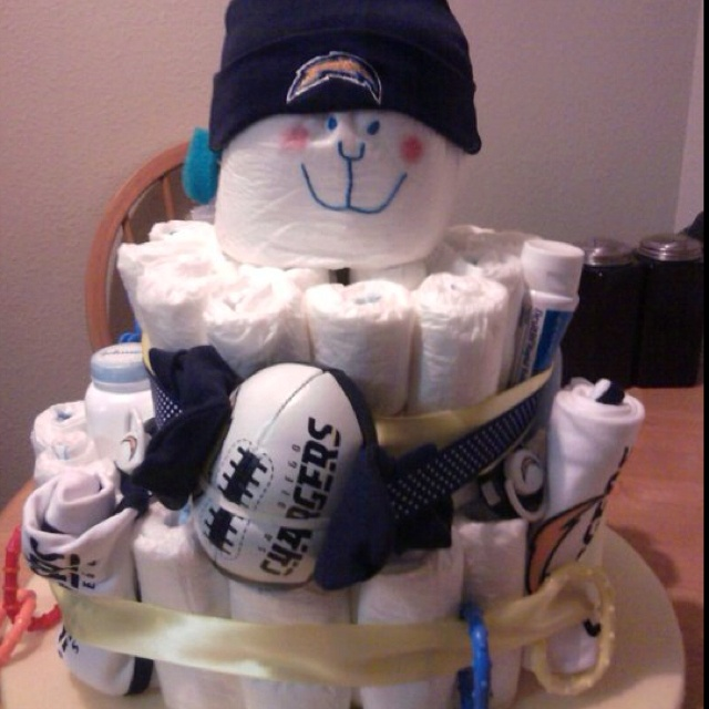 San Diego Chargers Cake: 15 Best Baby Shower Football Images On Pinterest