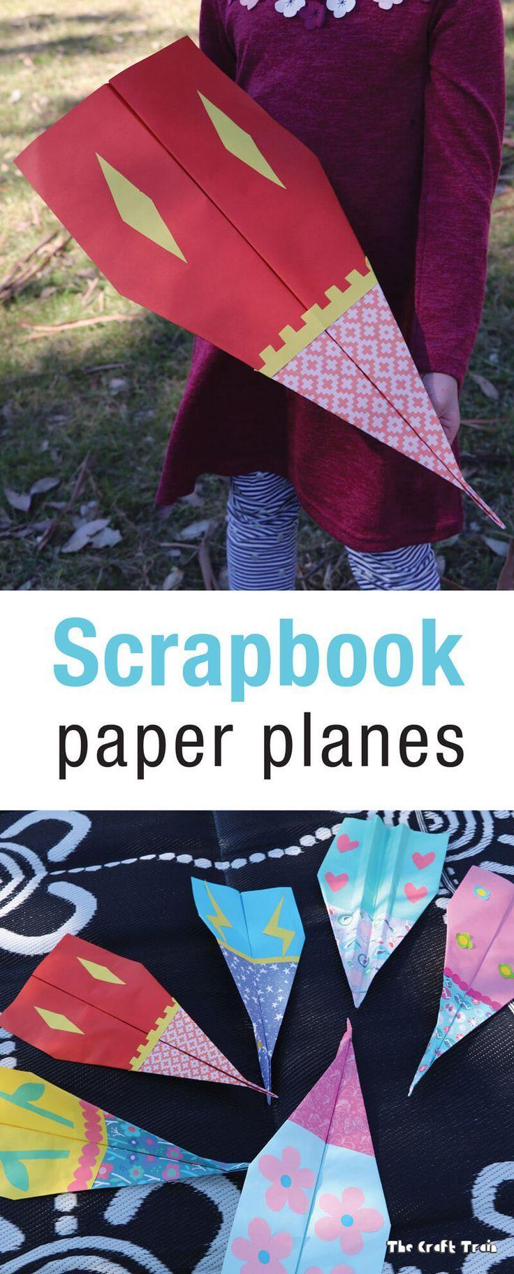 scrapbook paper planes