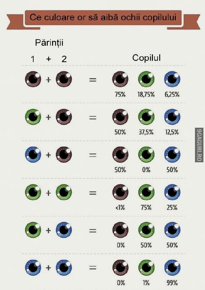 Ce culoare or să aibă ochii copilului tău!   http://9gaguri.ro/media/ce-culoare-or-sa-aiba-ochii-copilului-tau