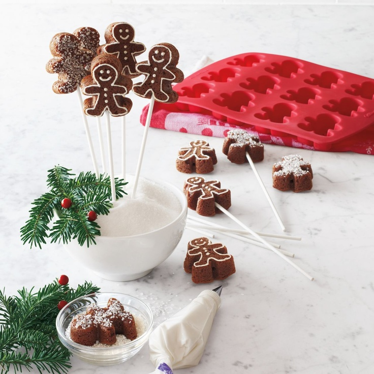 Wilton® Gingerbread Cake Pop Mold   ...use my cake molds this Christmas!