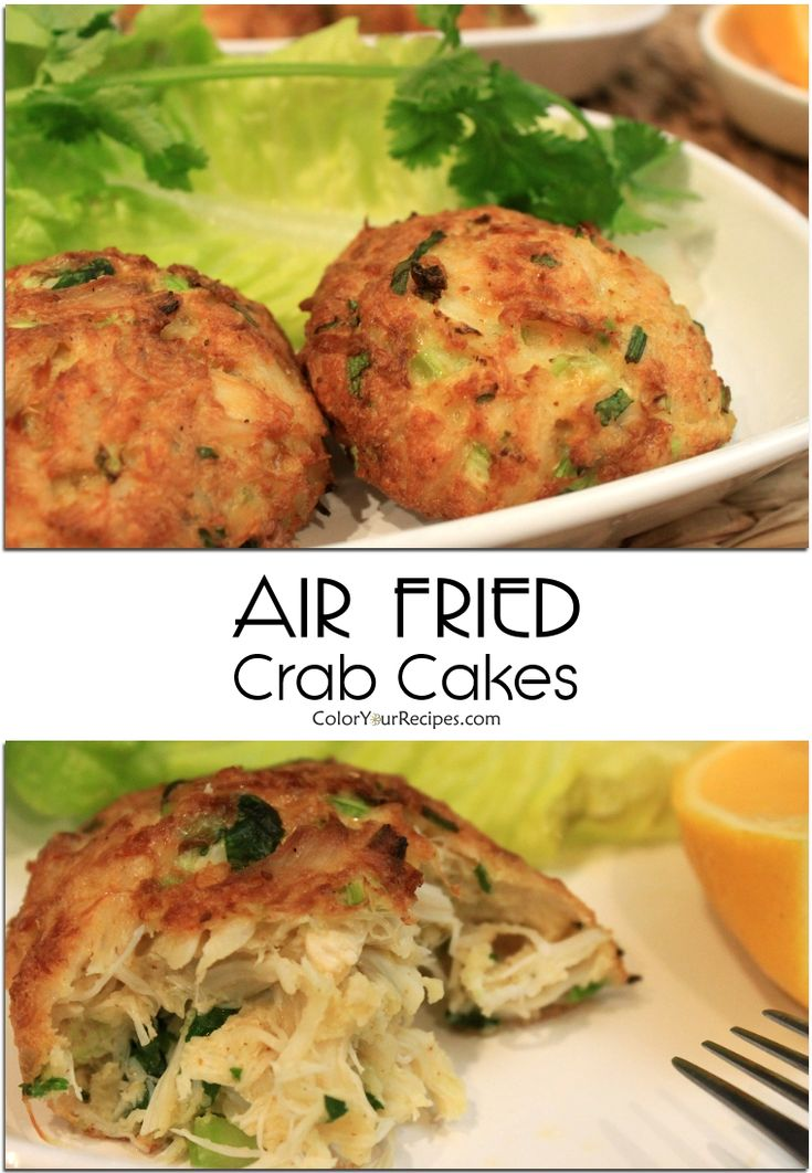 Healthy version of crab cake with air fryer air fryer