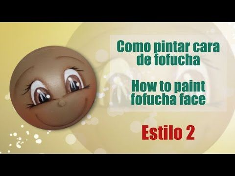 Como pintar cara fofucha 2 - How to paint fofucha face 2 - YouTube