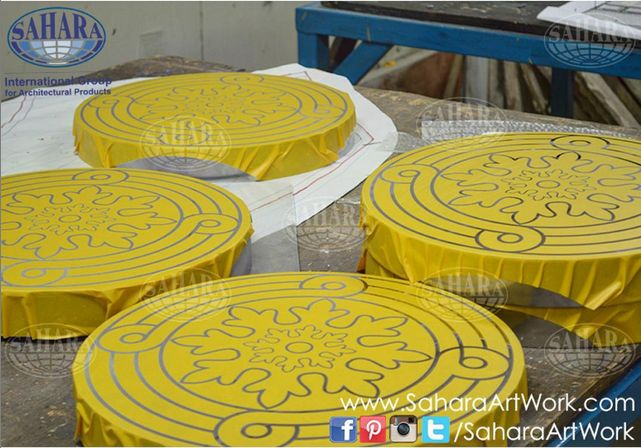 Earlier today from our studios. More and more table tops ready for sandblasting, stay tuned!