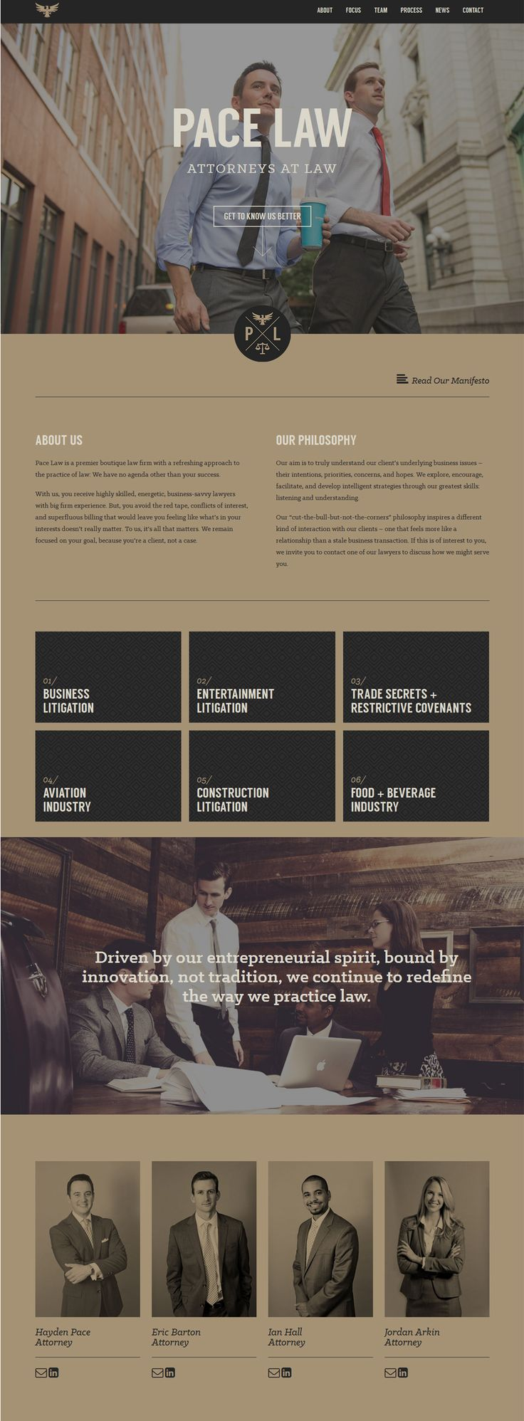 Pace Law | Beautiful website design. I love the color scheme - it coveys a sense of casual and comfortable service as well as a professional approach.
