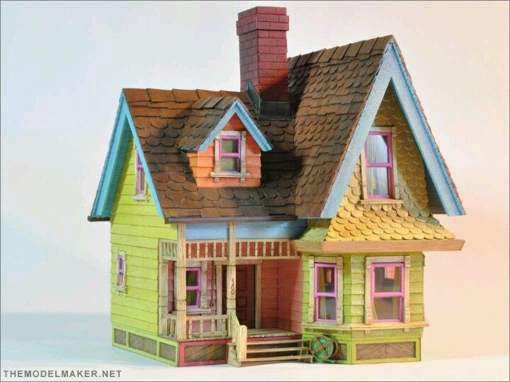 "Popsicle Stick House - the ""UP"" house"