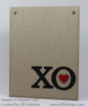 XO Masculine Valentine Card by jillastamps - Cards and Paper Crafts at Splitcoaststampers