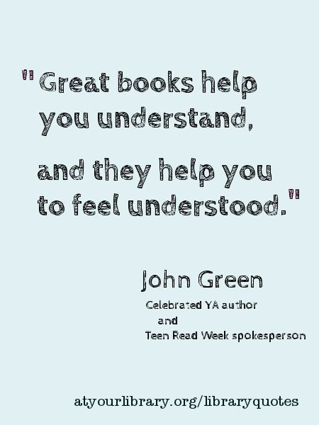 Charming Life Pattern: John Green   Quote   Great Books Help You Understa.
