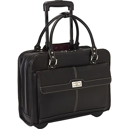 Black - $74.99 Samsonite women's laptop mobile office. Small rolling laptop bag