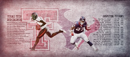 Giant Wallpaper: Texas Tech / Houston Texans Schedule