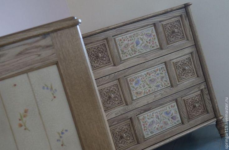 Купить Расписная мебель. Комод с росписью. Мастерская Натальи Строгановой - золотой, роспись мебели