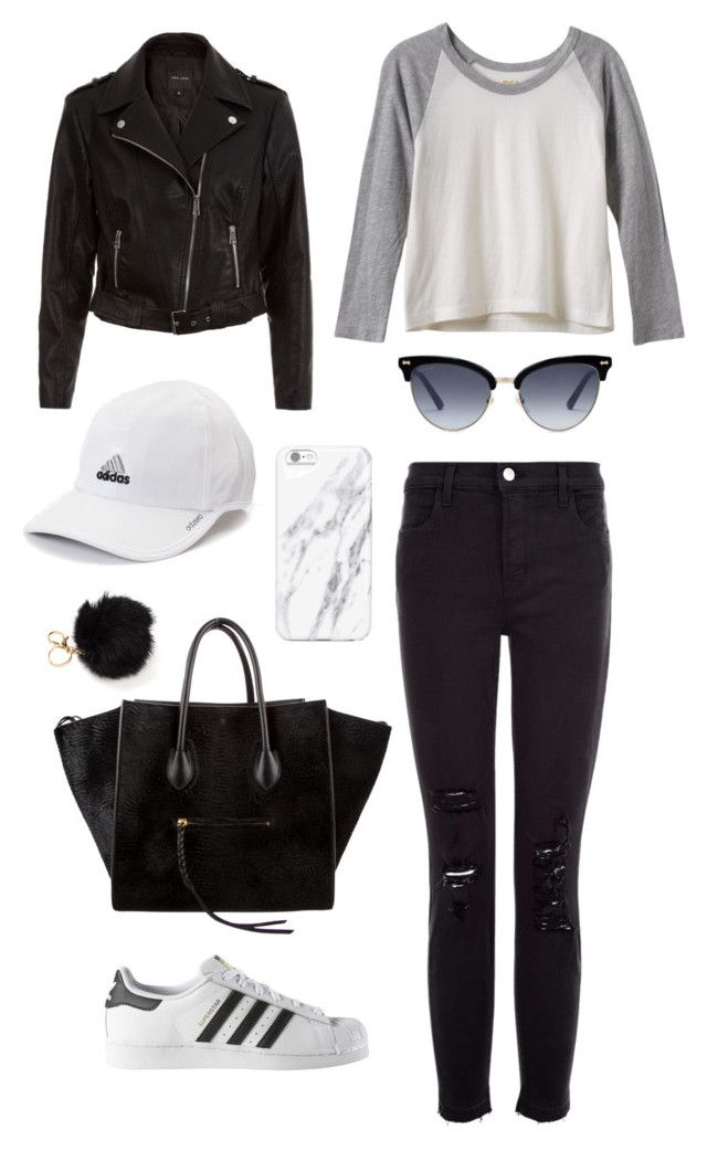 """Block"" by julimoli27 on Polyvore featuring moda, RVCA, J Brand, New Look, adidas, CÉLINE y Gucci"