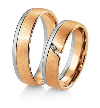 Breuning Trouwringen | Inspiration collectie gouden ringen | 5,5mm briljant 0.03ct verkrijgbaar in 8,14 en 18 karaat | DR 48041630 / HR 48041640 OOK in wit geel en rood goud verkrijgbaar of in 2 kleuren goud #trouwringen #breuning #trouwen