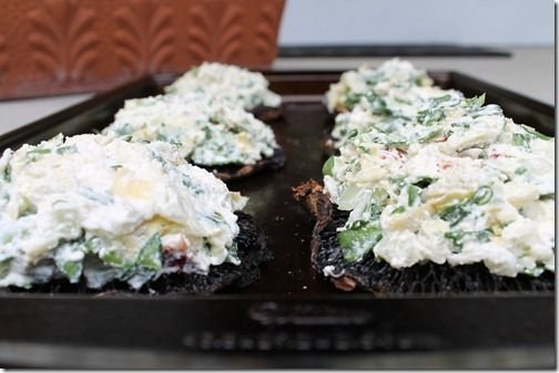 Roasted portobello mushrooms
