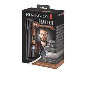 Remington MB4045 Kit Barbe/Tondeuse Barbe Rechargeable Titanium + Brosse + Ciseaux