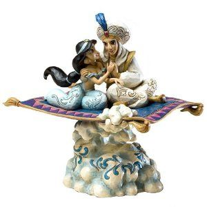 Jim Shore Disney Traditions Aladdin Light Up Magic Carpet Ride Musical