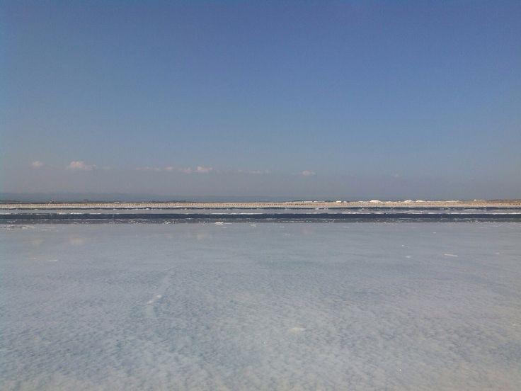 salt farm , madura , Indonesia.  afternoon